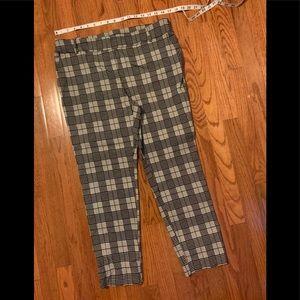 Jules & Leopold Black/white plaid pants-Sz XL. EUC